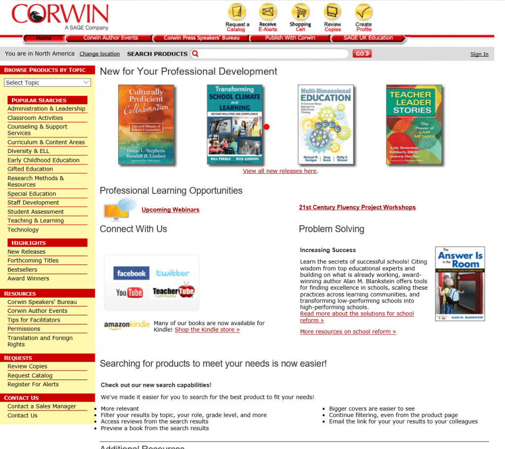 corwin website enhancement ux ui
