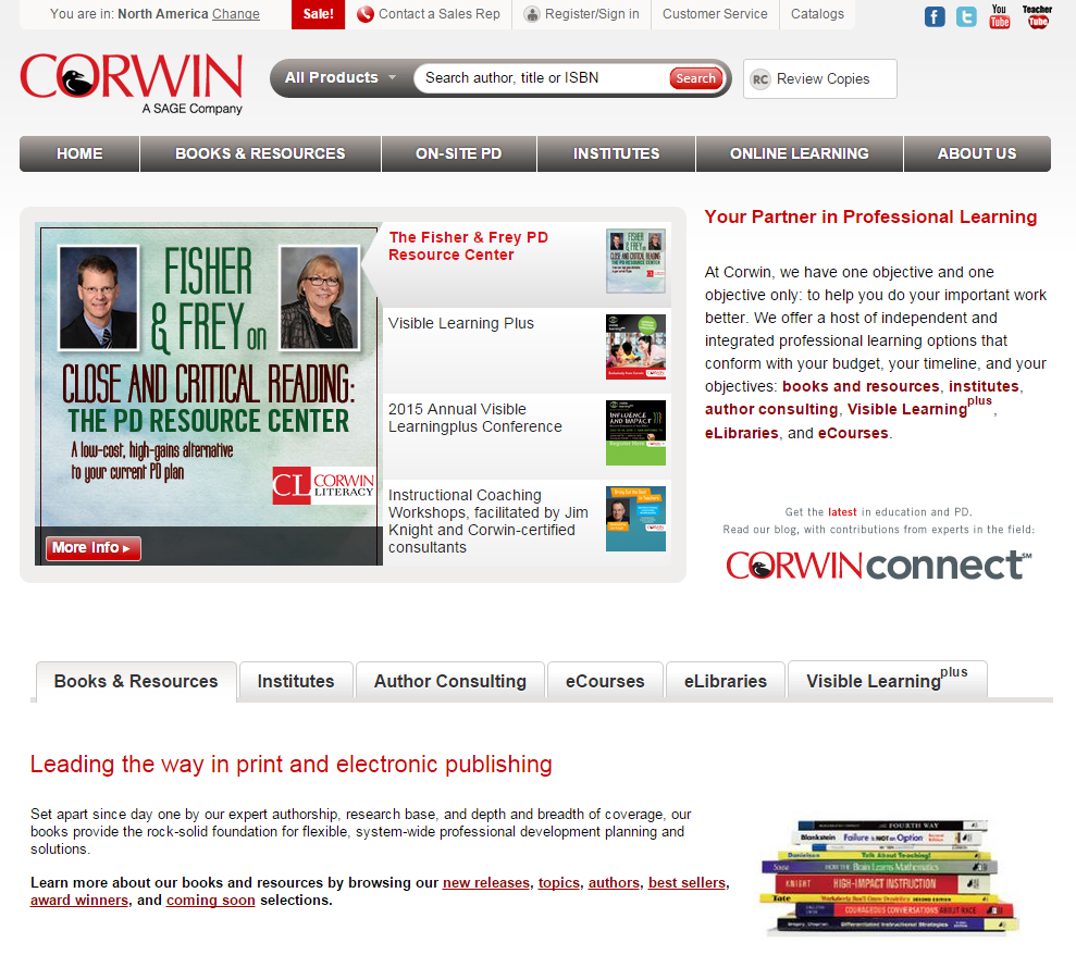 corwin website design ux