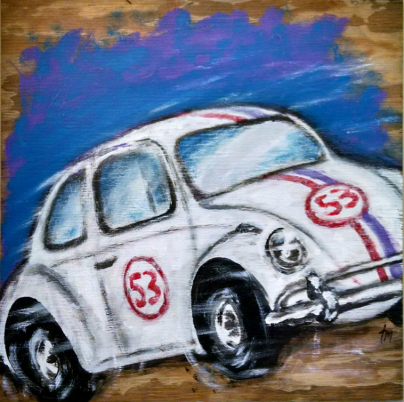 Vintage Race Car 53 Herbie Painting