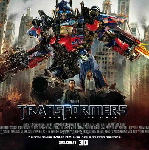 Transformers Dark Moon film 3D