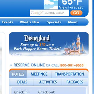 Web Banner Ad: Disneyland