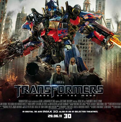 Transformers Dark Moon film 3D