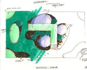 concept sketch tradeshow booths