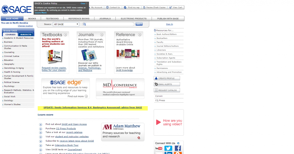 an example of the old web design